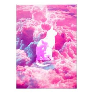 girly_cute_cat_vector_bright_pink_clouds