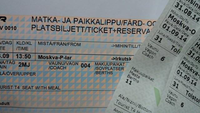 Kaksi junalippua Siperiaan, kiitos! - Mikon ja Annikan retket: Junalla Australiaan - Vuodatus.net