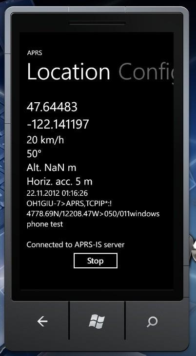 Windows Phone APRS - Teknisiä laitteita ja ohjelmointia
