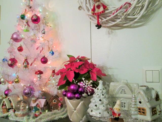 Pinkki Joulukuusi