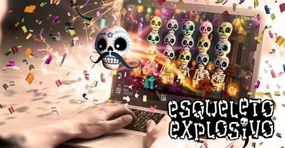 Esqueleto Explosivo kolikkopeli