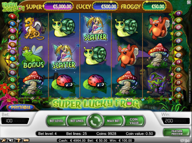 Super Lucky Frog kolikkopeli