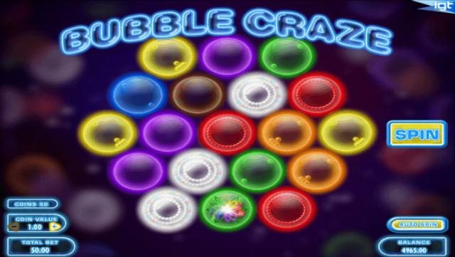 bubble craze kolikkopeli