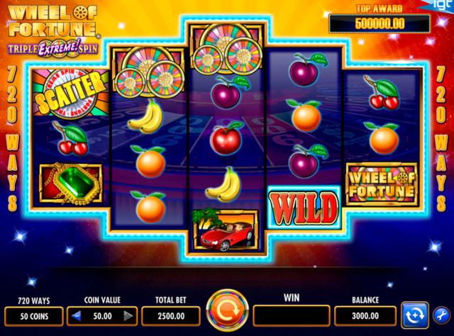 wheel of fortune kolikkopeli