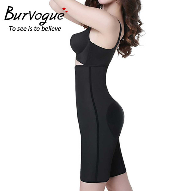 Burvogue-Women-Latex-High-Waist-Steel-Bo