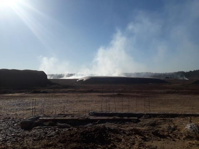 Saunaojanrahkan turvetuotantoalueella paloi