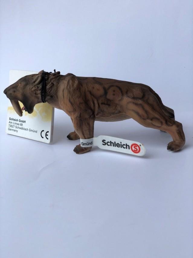 SCHLEICH-Prehistoric-Life-RETIRED-Smilod