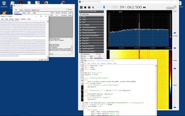 SDRSharp TETRA plug-in UDP raw data logger with Python