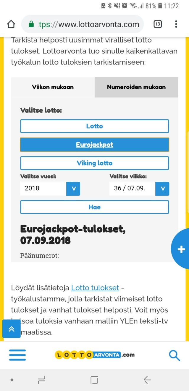 lottotulokset