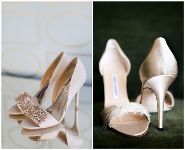 élégantes chaussures de mariée à talon haut